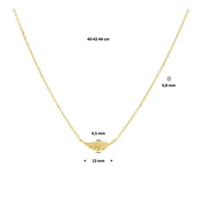 Gouden Essentials collier (No. 21) 40.20137