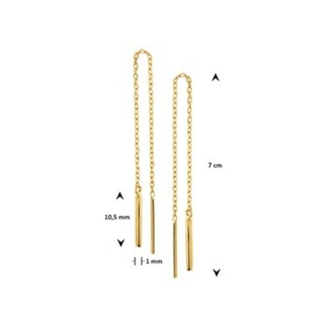 Gouden Essentials oorsieraad (No. 25) 40.19279