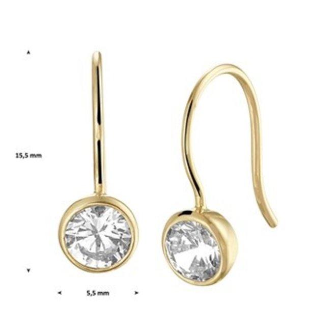 Gouden Essentials oorsieraad zirkonia (No. 26) 40.20239