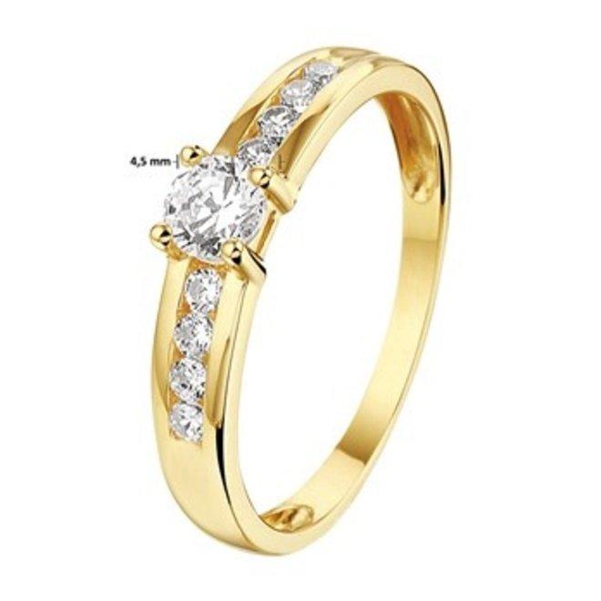 Gouden Essentials ring  zirkonia (No. 10) 40.20079