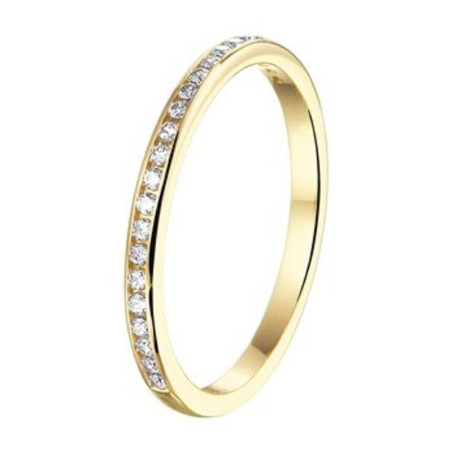 Gouden Essentials ring  zirkonia (No. 12) 40.20167