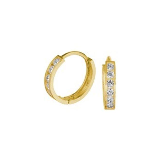 Gouden Essentials oorsieraad zirkonia (No. 7) 40.17421