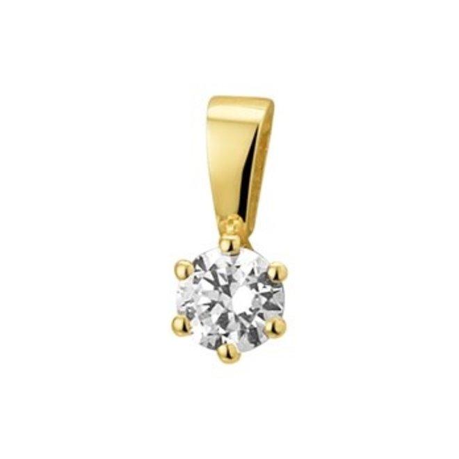 Gouden Essentials hanger zirkonia (No. 16) 40.10166