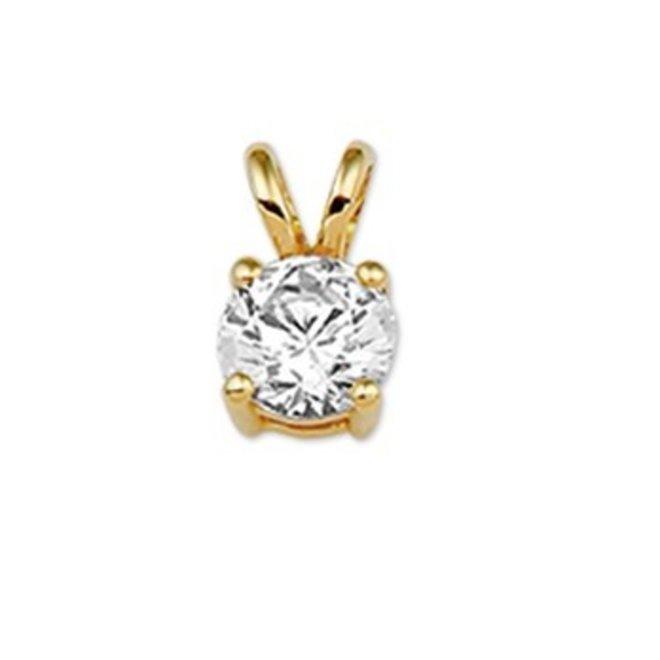 Gouden Essentials hanger zirkonia (No. 17) 40.10163