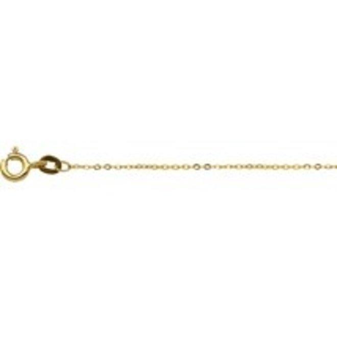 Gouden Essentials collier anker plat (No. 22) 40.17137