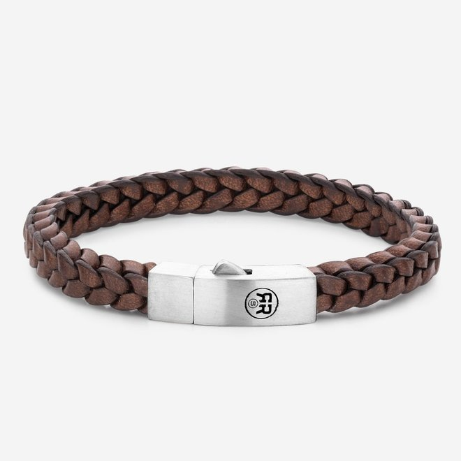 Rebel&Rose armband Braided Square 925 Earth L0082-S