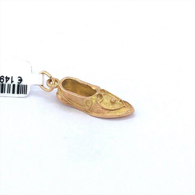 Geelgouden occasion hanger schoen