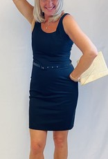 ACCESS ABBEE ACCESS SLEEVELESS PENCIL DRESS 3077-108 WITH FULL ZIP BACK