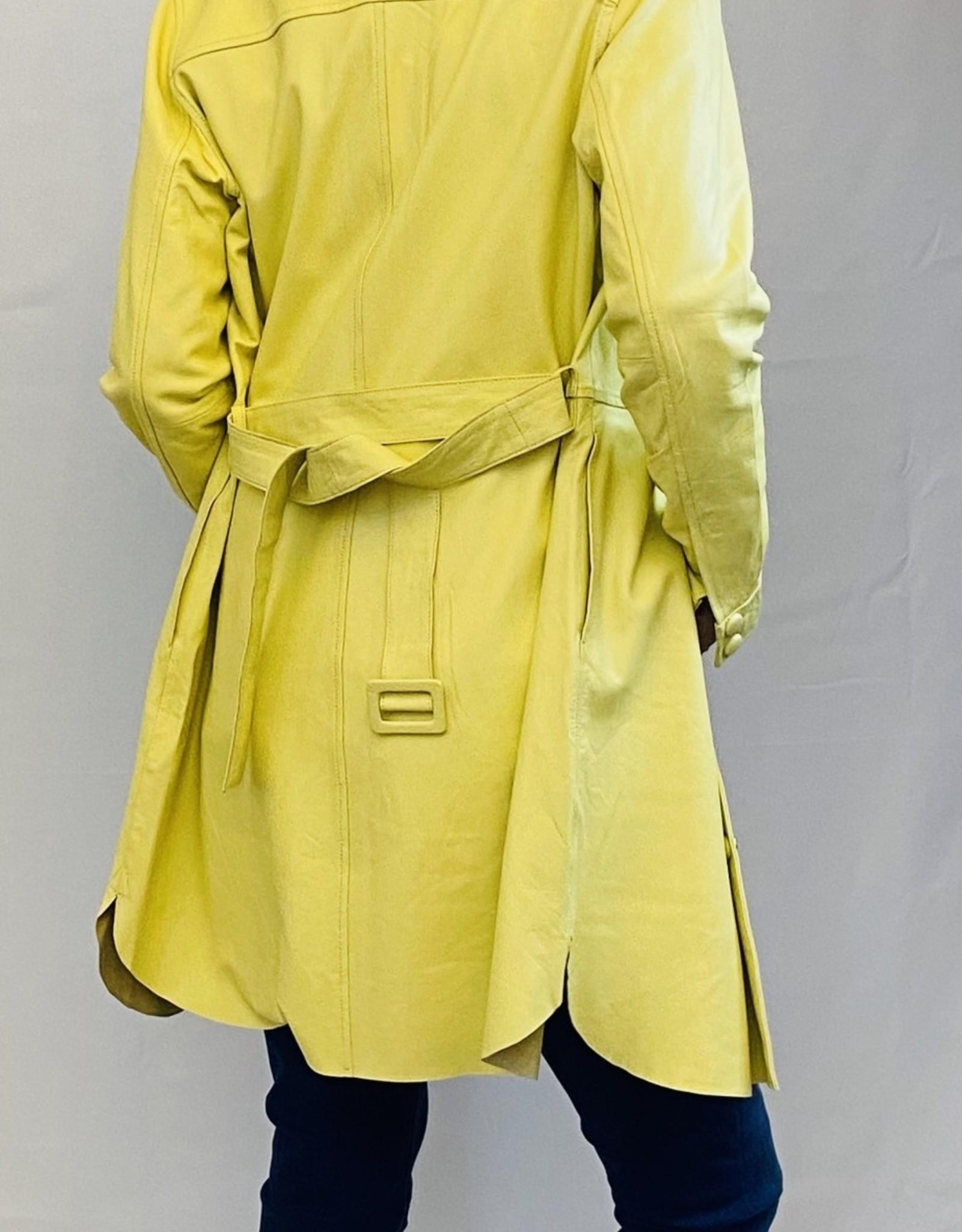 COSTER COPENHAGEN LEATHER  DRESS / JACKET WITH BELT 201-6170