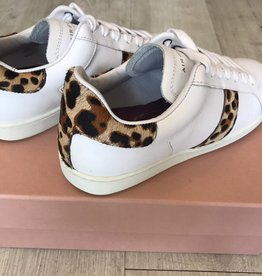 AIR & GRACE COPELAND TRAINER WHITE & LEOPARD