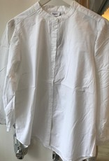 SAINT TROPEZ CHRISTA OVERSIZED WHITE SHIRT NO COLLAR 30510527 SAINT TROPEZ