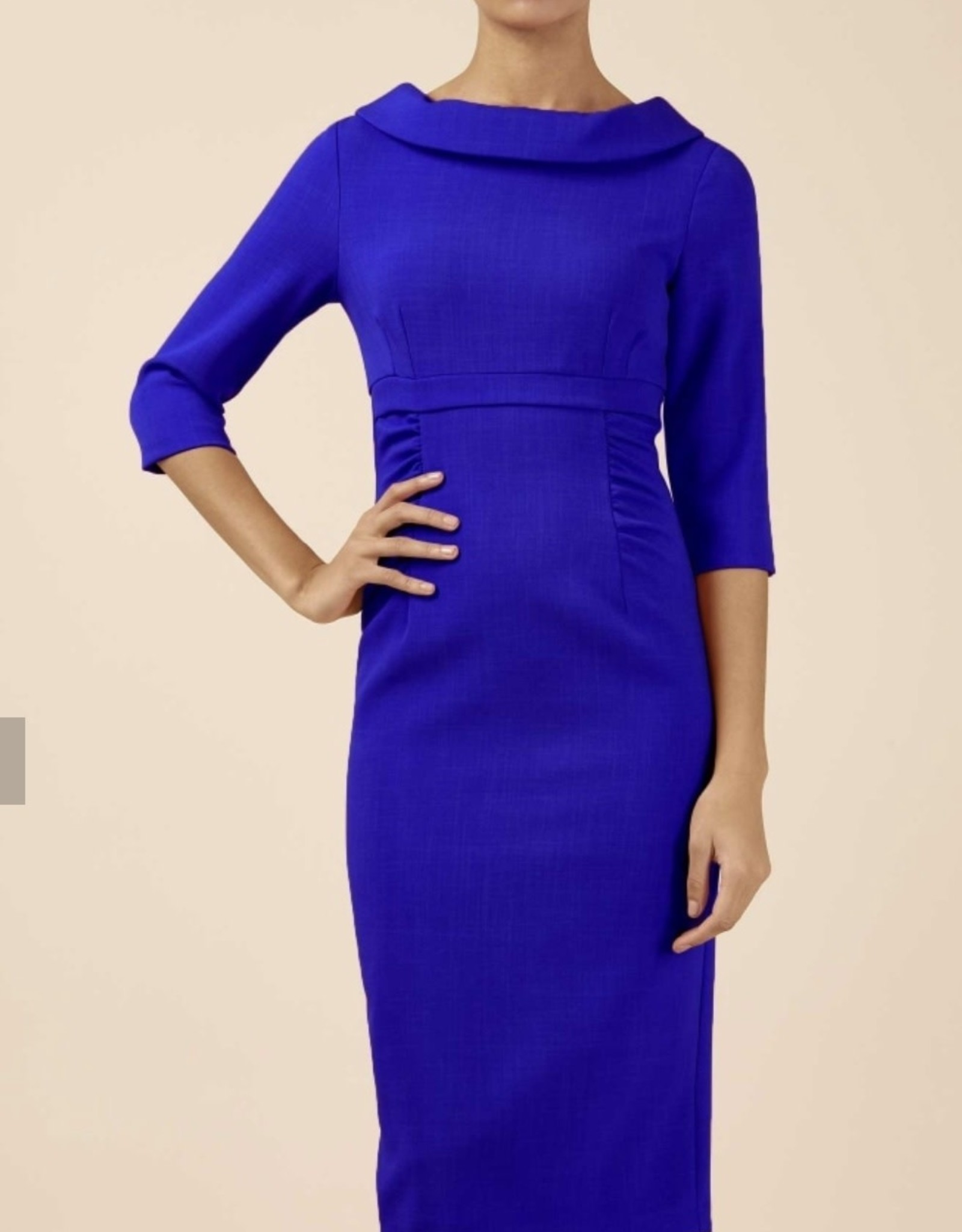 PRETTY DRESS COMPANY TINSLEY ROLL COLLAR PENCIL DRESS BY PDC