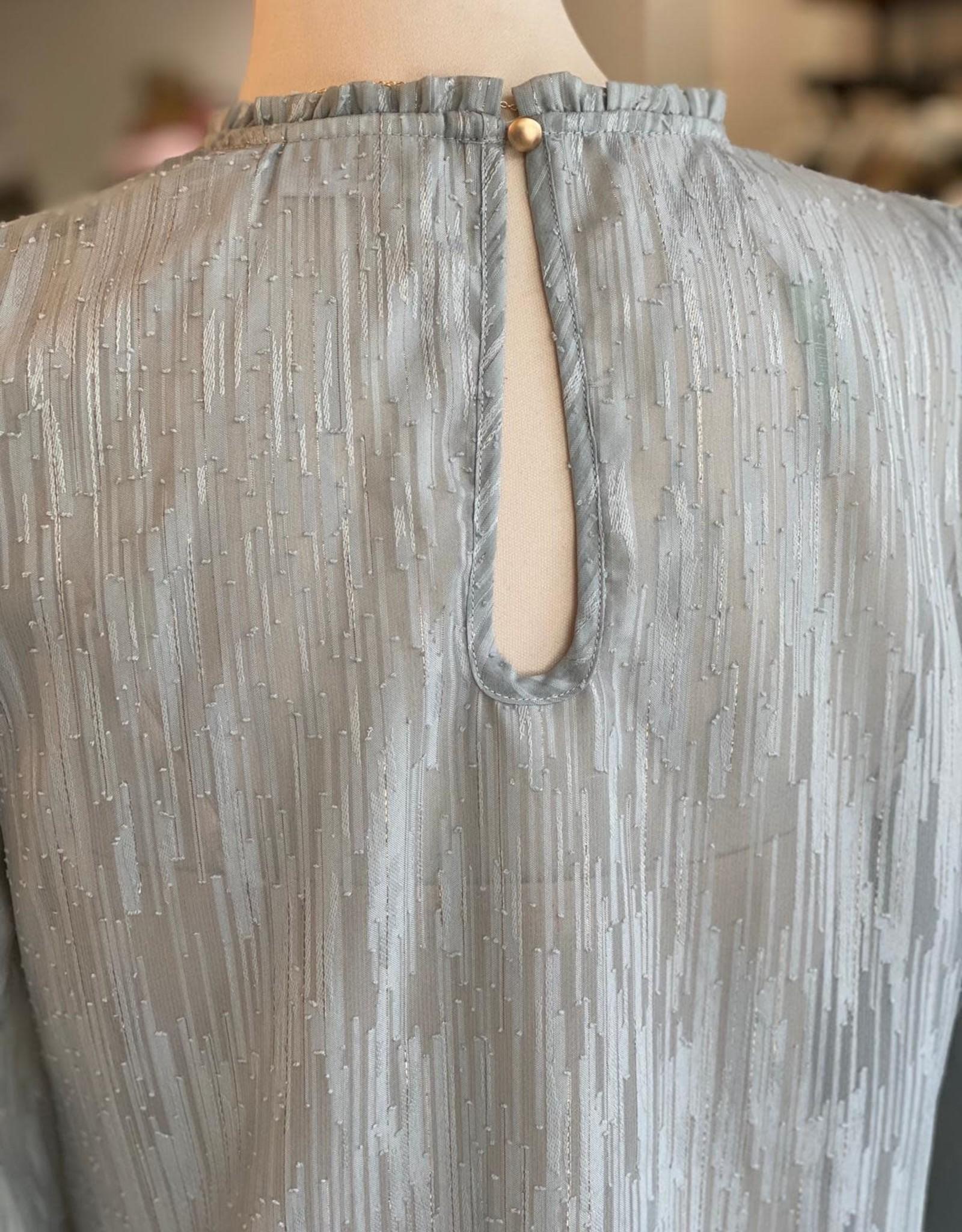 COSTER COPENHAGEN ROUND NECK MID-SLEEVE BLOUSE 1502