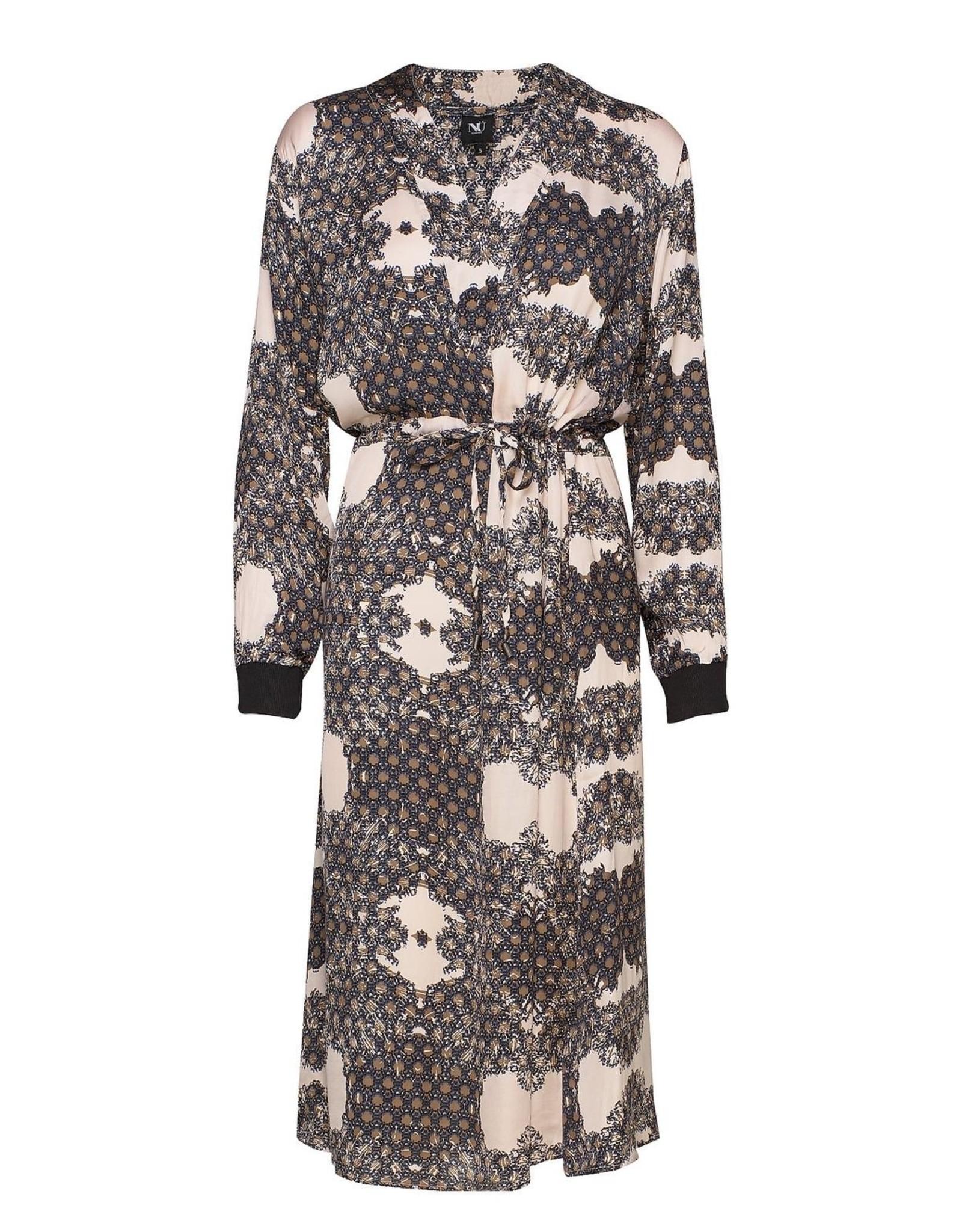 NU DANISH CARA PRINT DRESS WITH V-NECK 6305-23 DRESS CARA