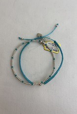 BLESSING STERLING SILVER AND CO-ORDINATING BEAD  BRACELET FROM ANNIE HAAK