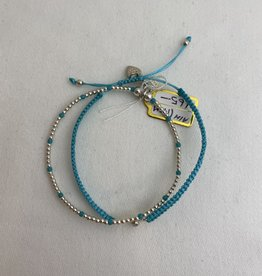 ANNIE HAAK BLESSING STERLING SILVER AND CO-ORDINATING BEAD FRIENDSHIP  BRACELETS FROM ANNIE HAAK