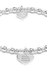 "ANNIE HAAK MINI ORCHID STERLING SILVER ""DREAM, BELIEVE, ACHIEVE"" CHARM BRACELET  FROM ANNIE HAAK"