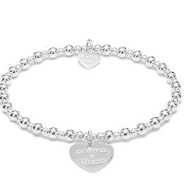 "ANNIE HAAK MINI ORCHID  ""GRATEFUL AND BLESSED"" STERLING SILVER BRACELET  FROM ANNIE HAAK"