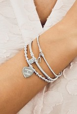 """MINI ORCHID """"GRATEFUL AND BLESSED"""" STERLING SILVER  BRACELET  FROM ANNIE HAAK"""