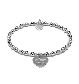 "ANNIE HAAK MINI ORCHID ""WIN FROM WITHIN""  STERLING SILVER BRACELET  FROM ANNIE HAAK"