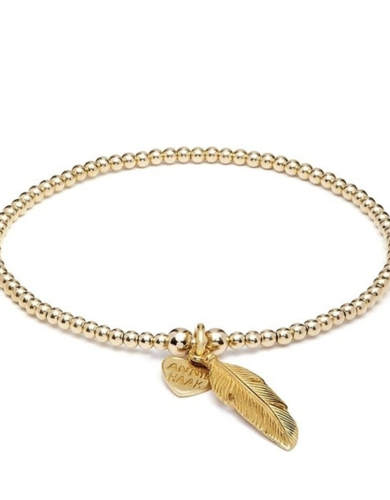 "ANNIE HAAK SANTEENIE GOLD  ""FEATHER"" CHARM BRACELET  FROM ANNIE HAAK"