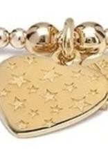 """ANNIE HAAK SANTEENIE GOLD  """"HEART WITH STARS"""" CHARM BRACELET  FROM ANNIE HAAK"""