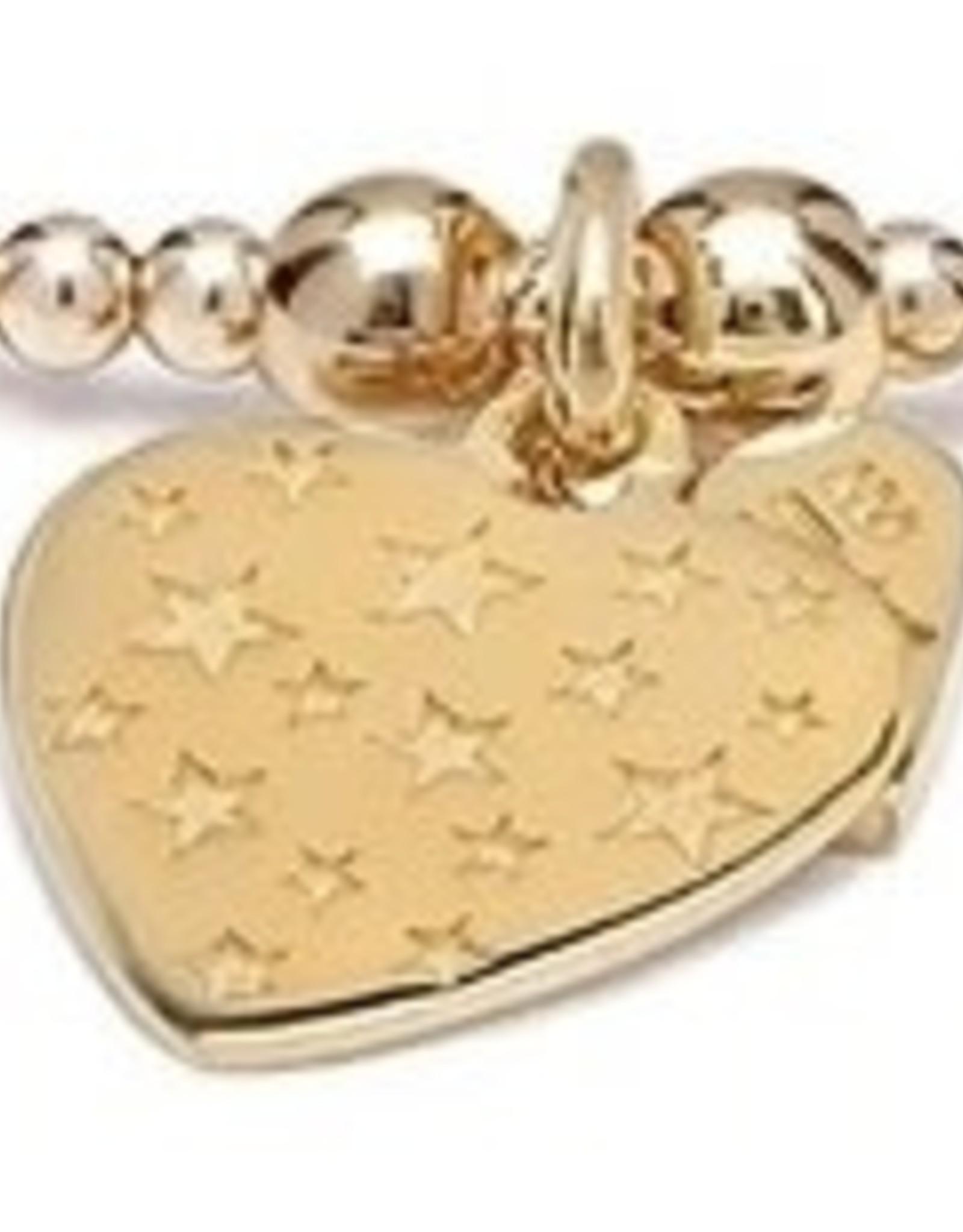 "SANTEENIE GOLD  ""HEART WITH STARS"" CHARM BRACELET  FROM ANNIE HAAK"