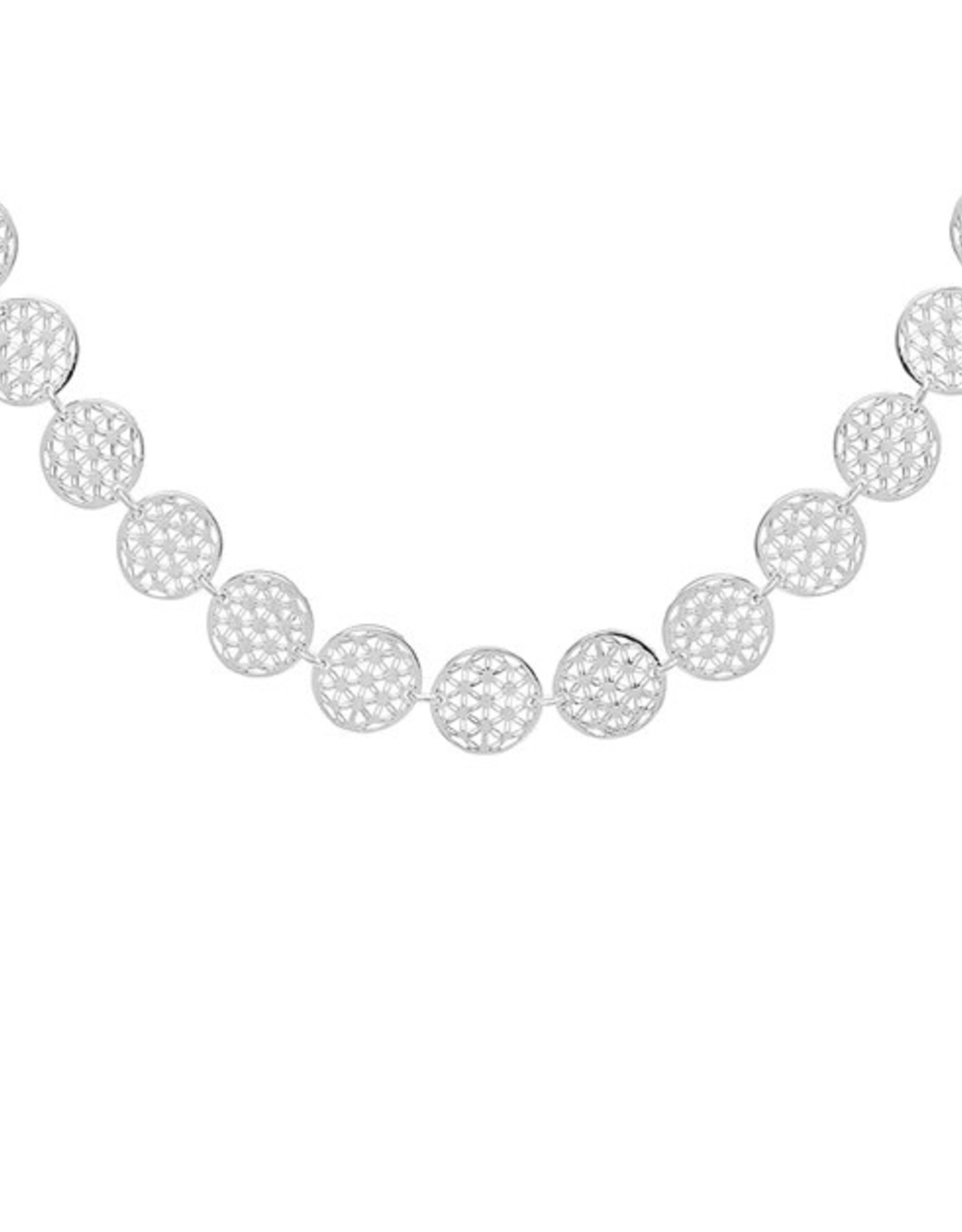 "ANNIE HAAK ""FLOWER OF LIFE"" SILVER LINKED NECKLACE  FROM ANNIE HAAK"