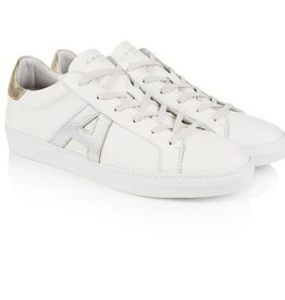 AIR & GRACE CRU SIGNATURE TRAINER WHITE, SILVER & GOLD