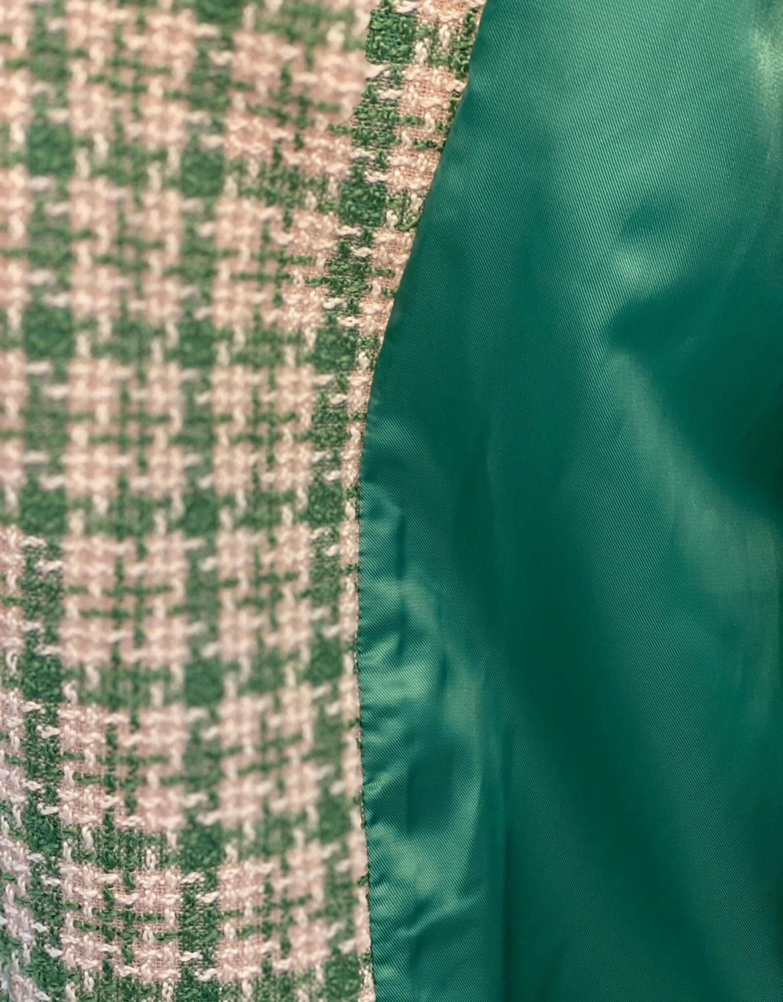 COSTER COPENHAGEN COSTER COAT GREEN CHECK 211-6151