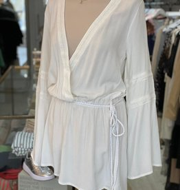 THE NATURAL PEOPLE LUXURY LINEN  BEACH WEAR TNP 018 SHORT ROMPER PLAYSUIT