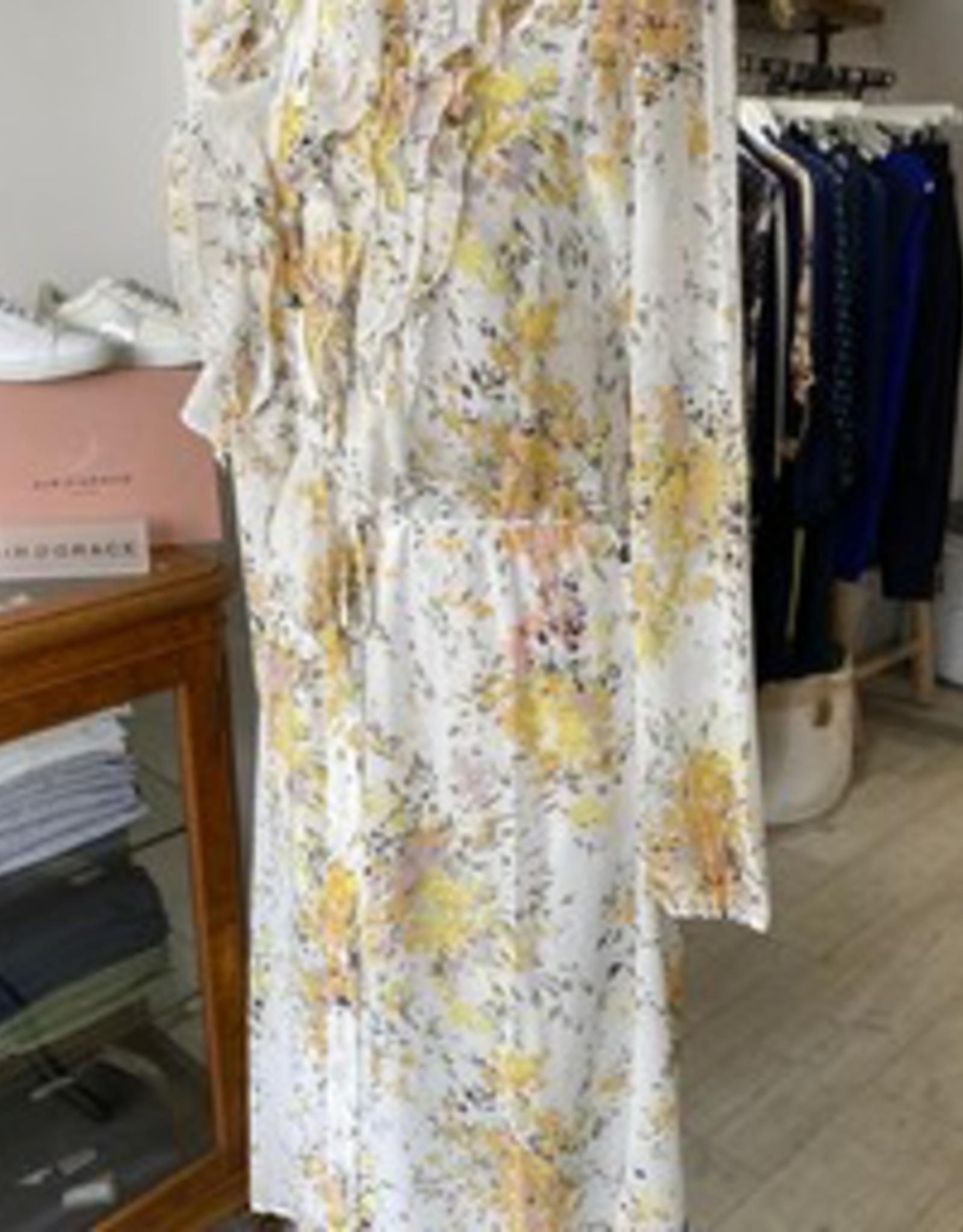 SAINT TROPEZ LILLY SZ DRESS IN YELLOW FLOWER PRINT FROM SAINT TROPEZ 30510378