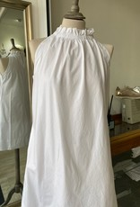 EUROPEAN CULTURE ABITO SMANICATO FRILL-NECK S/LESS DRESS 18B0 3183 EUROPEAN CULTURE
