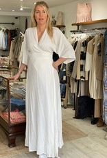 THE NATURAL PEOPLE LUXURY LINEN  BEACH WEAR TNP 024 LONG WRAP DRESS W. OPEN BACK