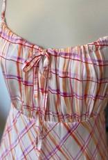 """FRNCH STRAP DRESS  W RUCHED BUST  """"ADRIENNE"""" F121-05 BY FRNCH"""