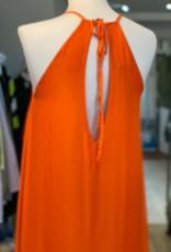 """FRNCH TIE NECK FLOATY  DRESS  W OPEN BACK  """"ATIKA"""" F121-19 BY FRNCH"""