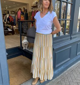 "FRNCH STRIPE SKIRT  ""EMMIE"" F11420  BY FRNCH"