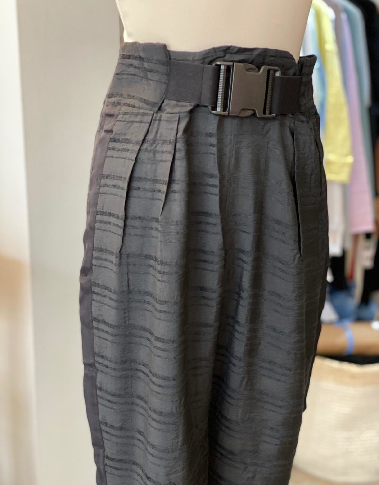 NU DANISH GRY LINED CIGAR TROUSERS WITH BELT NU 6768-10