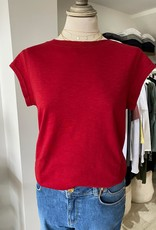 COSTER COPENHAGEN BASIC ROUND-NECK LIPSTICK RED 698 T-SHIRT B0017 / CCH1100 BY COSTER