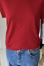 COSTER COPENHAGEN BASIC V-NECK LIPSTICK RED 698 T-SHIRT B0022 / CCH1101 COSTER