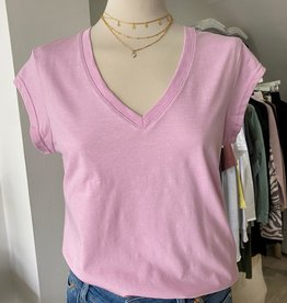 COSTER COPENHAGEN BASIC V-NECK ORCHID PINK 620 T-SHIRT B0022 / CCH1101 COSTER