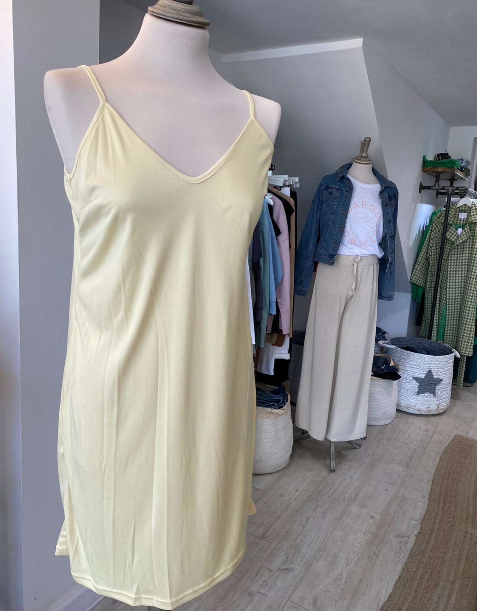 COSTER COPENHAGEN DOLLY SMOCK DRESS IN SPLASH YELLOW 212-5253 FROM COSTER