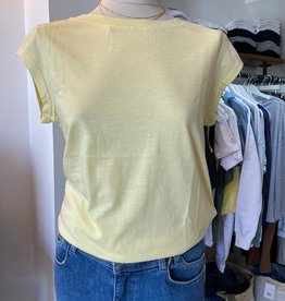COSTER COPENHAGEN BASIC ROUND-NECK LIGHT YELLOW  731 T-SHIRT B0017 / CCH1100 BY COSTER