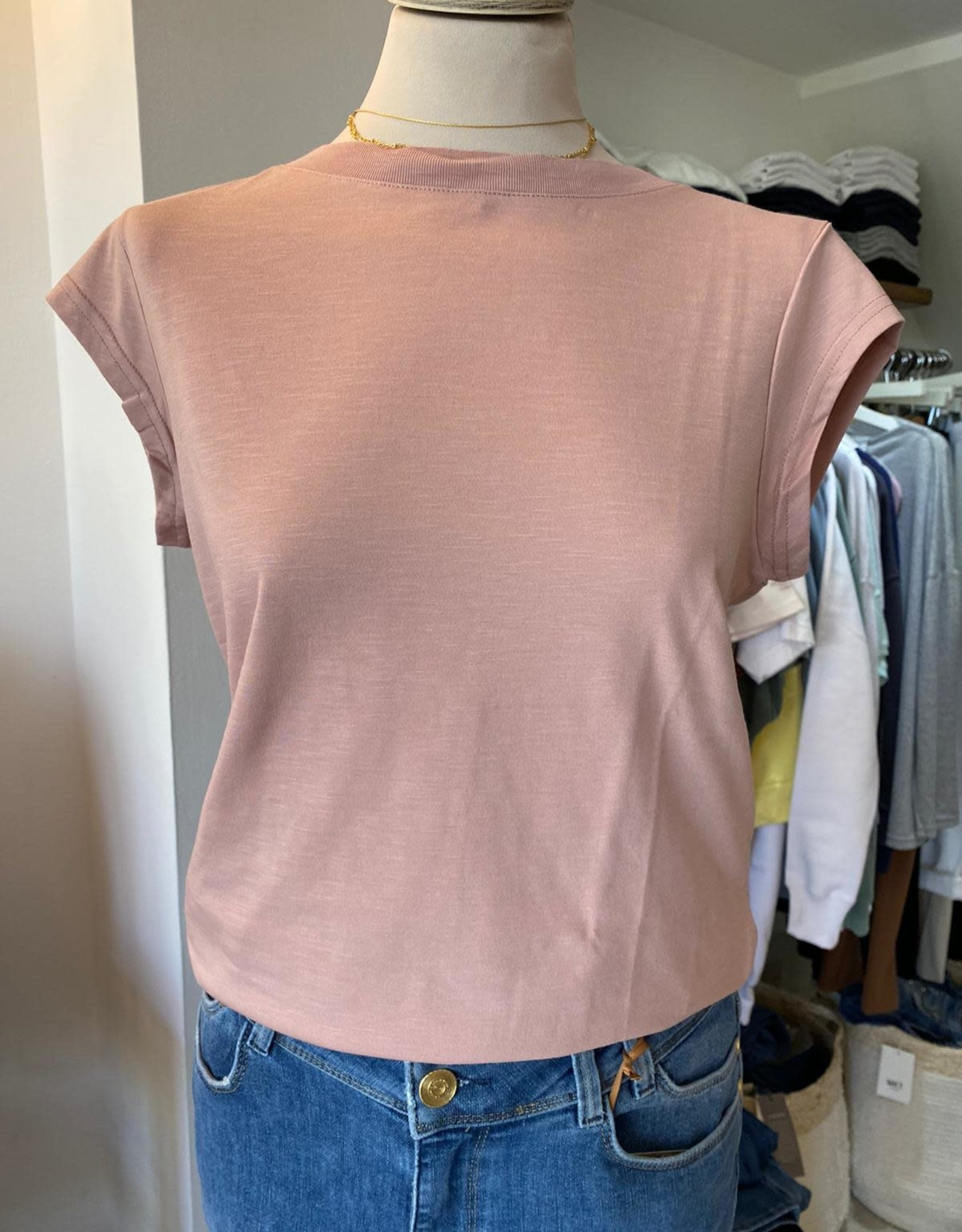 COSTER COPENHAGEN BASIC ROUND-NECK OLD ROSE  690 T-SHIRT B0017 / CCH1100 BY COSTER