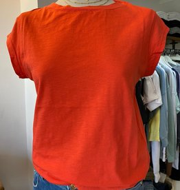 COSTER COPENHAGEN BASIC ROUND-NECK POPPY RED 682 T-SHIRT B0017 / CCH1100 BY COSTER