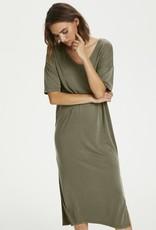 SAINT TROPEZ ABBIE LOUNGEWEAR V-NECK LONG T-SHIRT DRESS WITH SPLITS FROM SAINT TROPEZ