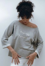 """OM & AH LONDON """"PERFECTLY IMPERFECT"""" RELAXED GREY SWEATER 7501 BY OM & AH"""