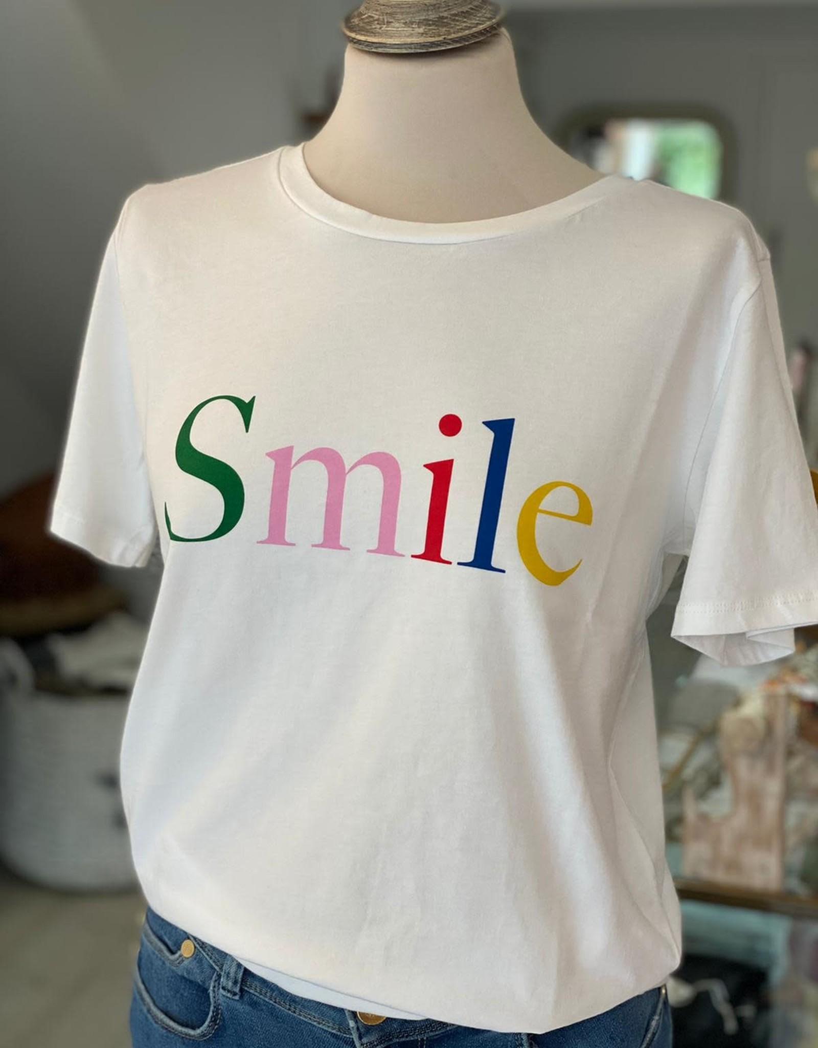 SOUTH PARADE LOLA WHITE (MULTI TEXT) SMILE