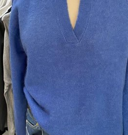 GRACE AND MILA DAMIER L/S V NECK W COLLAR JUMPER BY GRACE AND MILA 21202