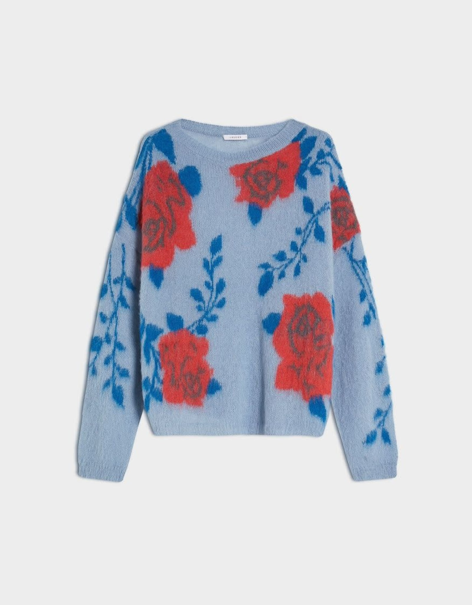 ONTARIO BLUE OVERSIZED WIDE NECK JUMPER BY IBLUES